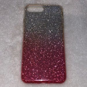Sparkly Pink and Silver iPhone 7 Plus Case